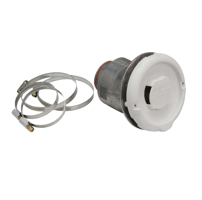 An image of Alde Side Wall Flue Terminal c/w Hose Clips White