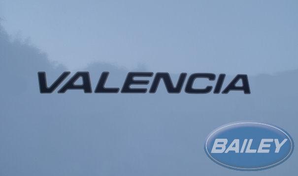 An image of Unicorn III Valencia Name Decal