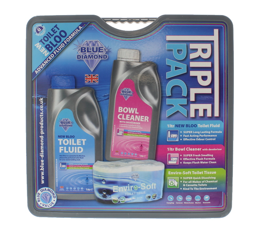 An image of 1L Big Value Triple Pack - Toilet Roll & Chemicals