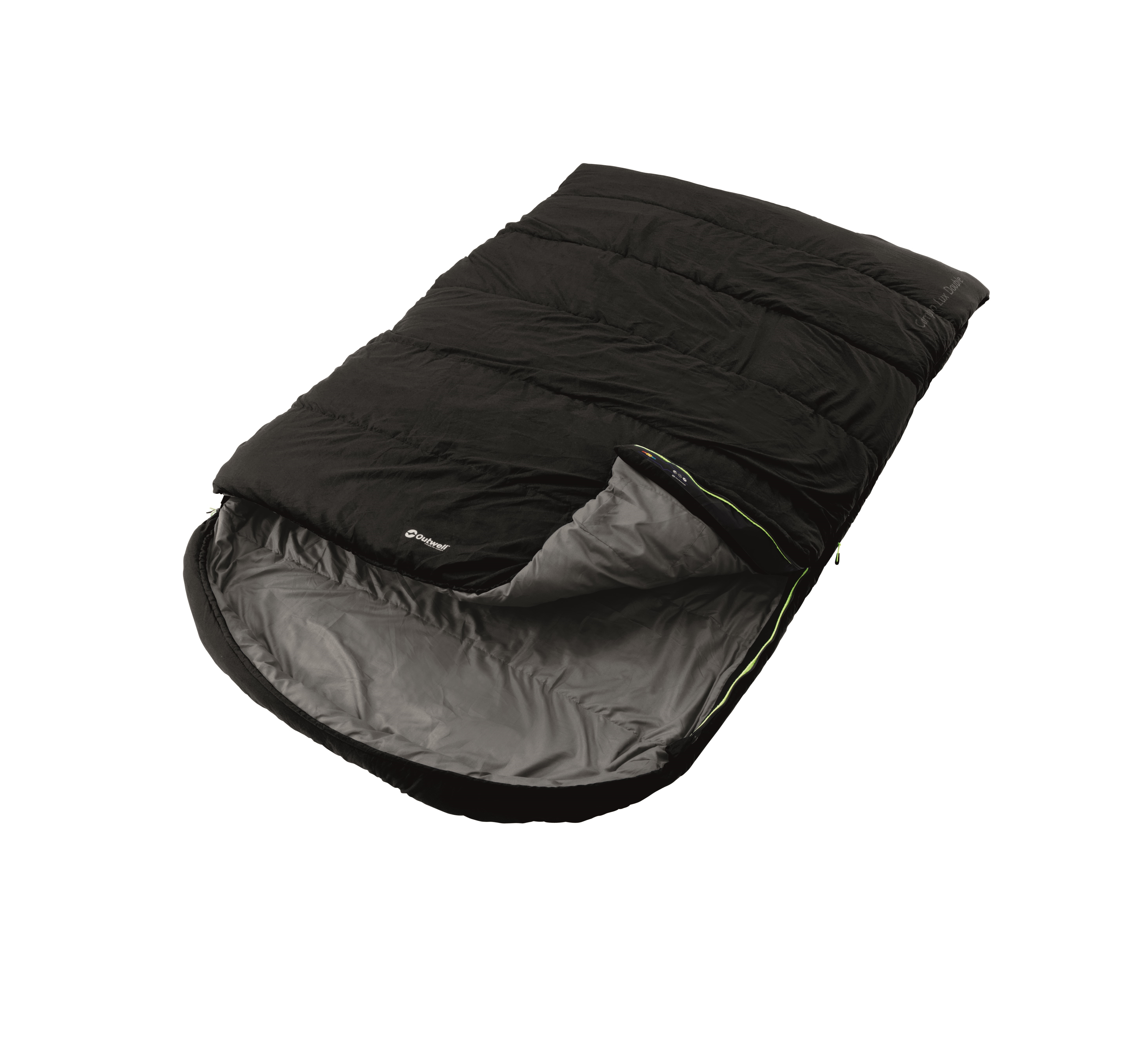 An image of Outwell Sleeping Bag Campion Lux Double Black
