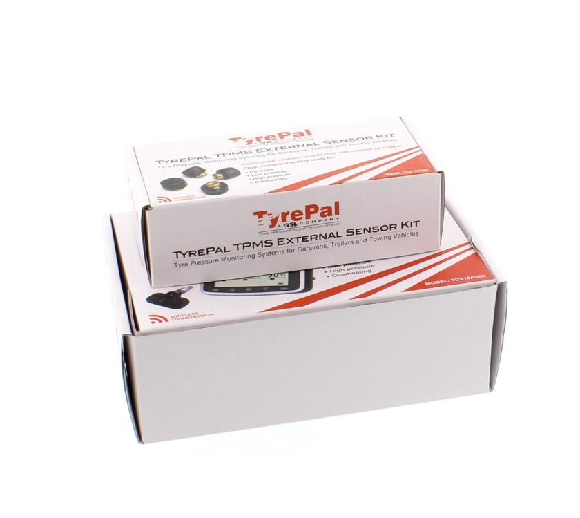 An image of TyrePal TPMS Caravan Monitor TC215OEK & 4 Sensors