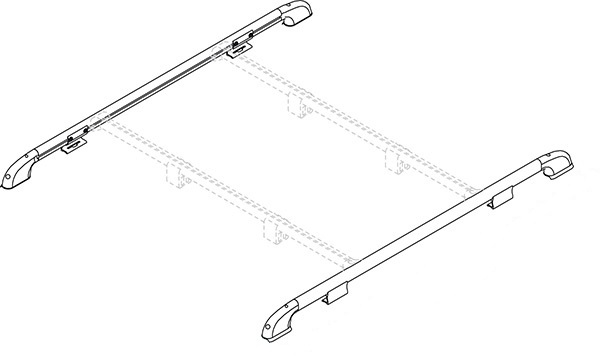 An image of Fiamma Motorhome Roof Rail (Pair)